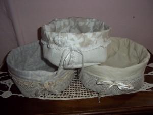 Quadri e oggetti shabby in stoffa ipizzidifrancesca - Cestini per bagno ...